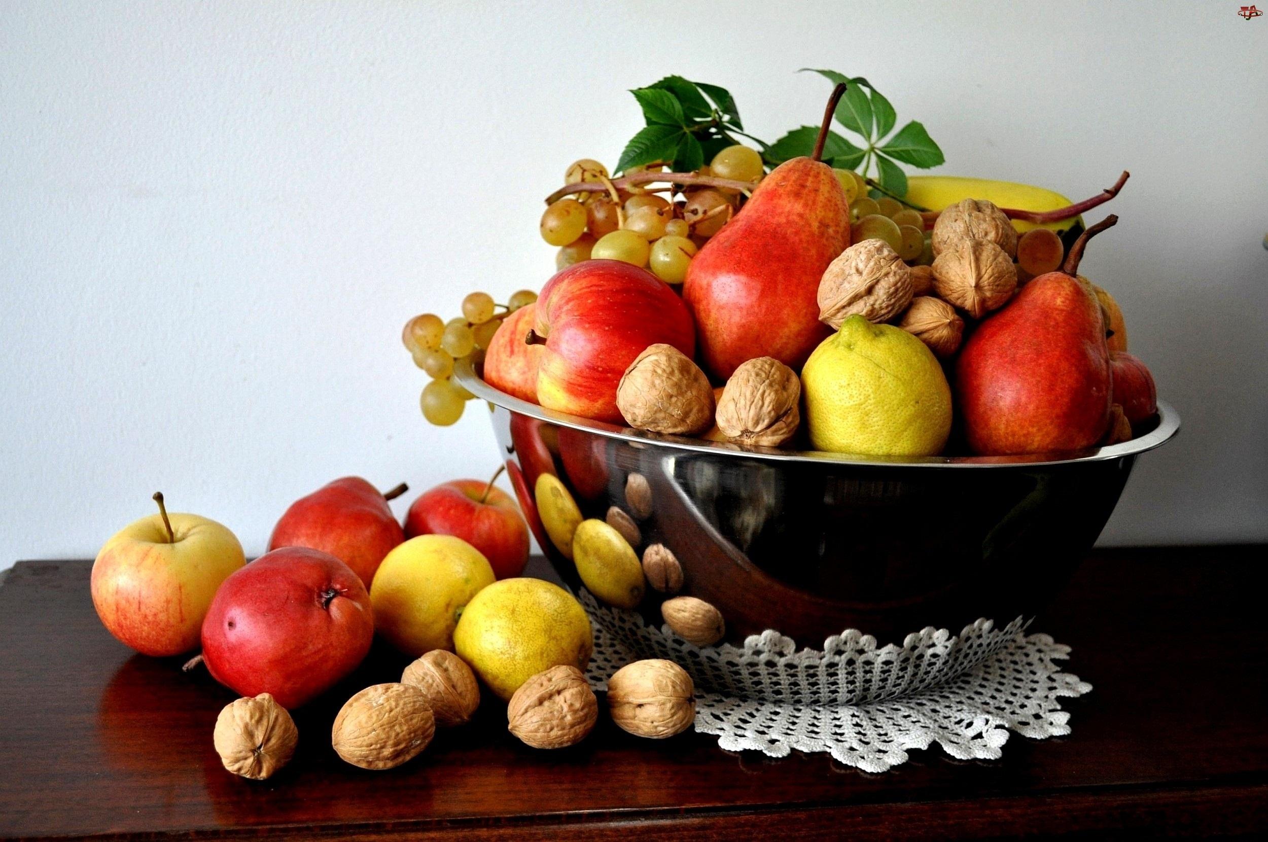 Orzechy, Miska, Owoce