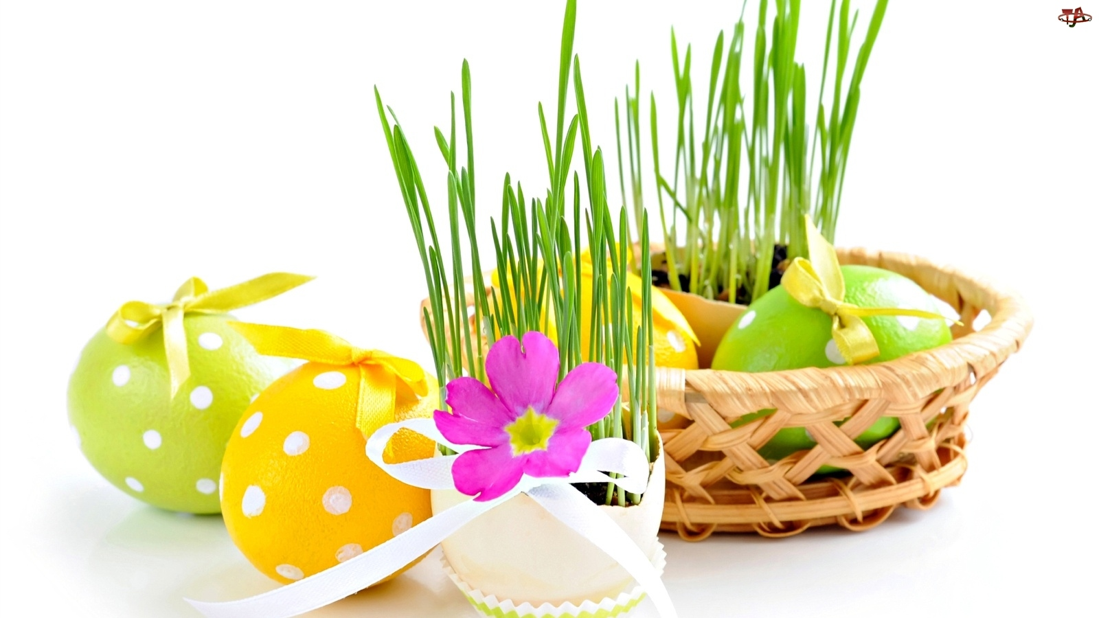 Kwiatuszek, Koszyk, Jajka, Wielkanocne, Trzwa