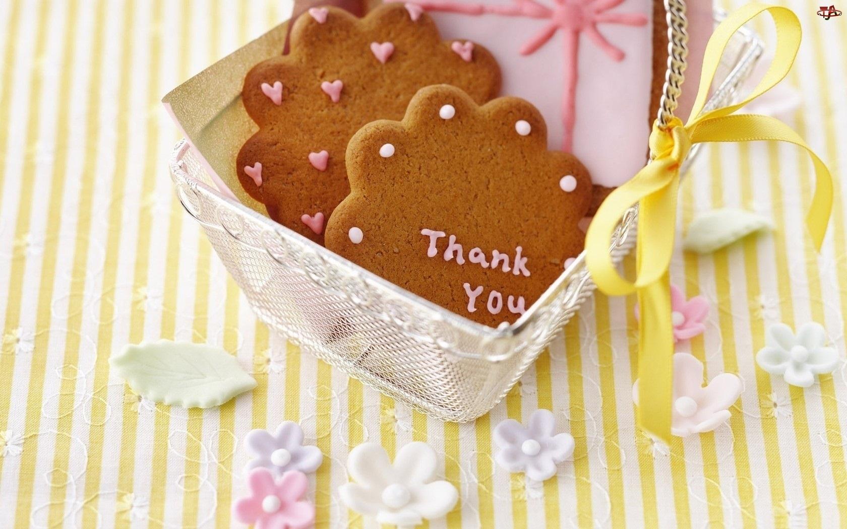 Koszyk, Podziękowanie, Ciasteczka, Imbirowe