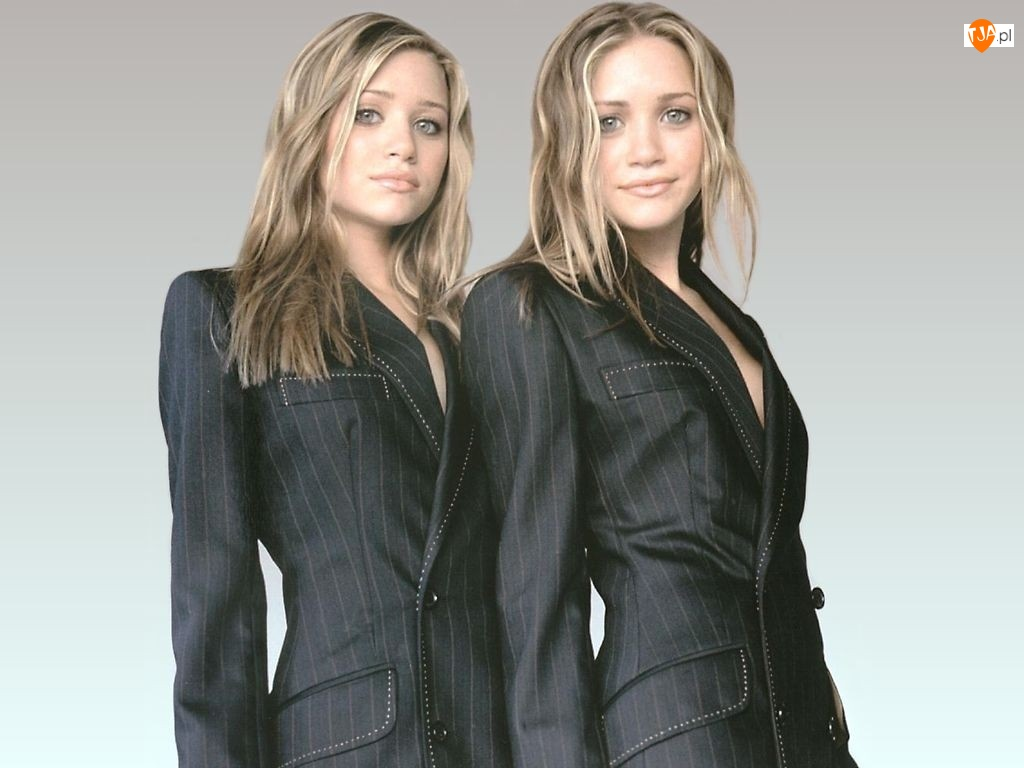 Blizniaczki Olsen, czarny garnitur