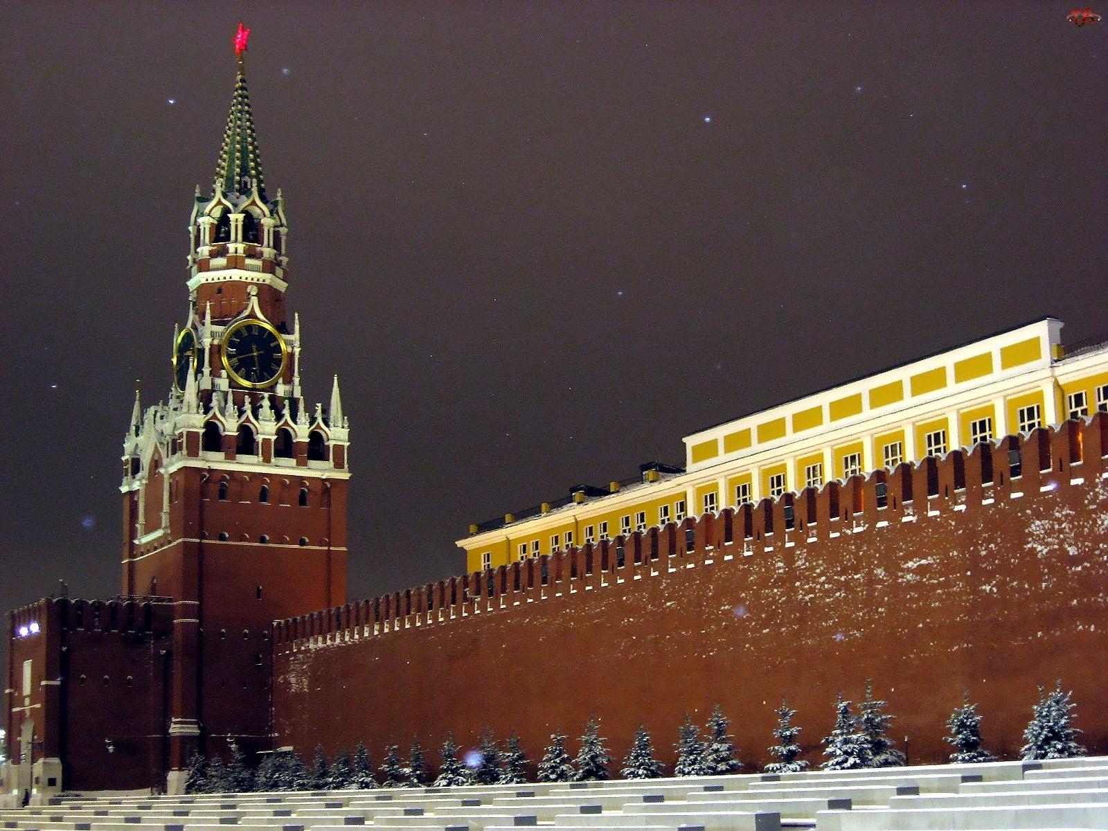 Spasska, Rosja, Kreml, Moskwa, Wieża