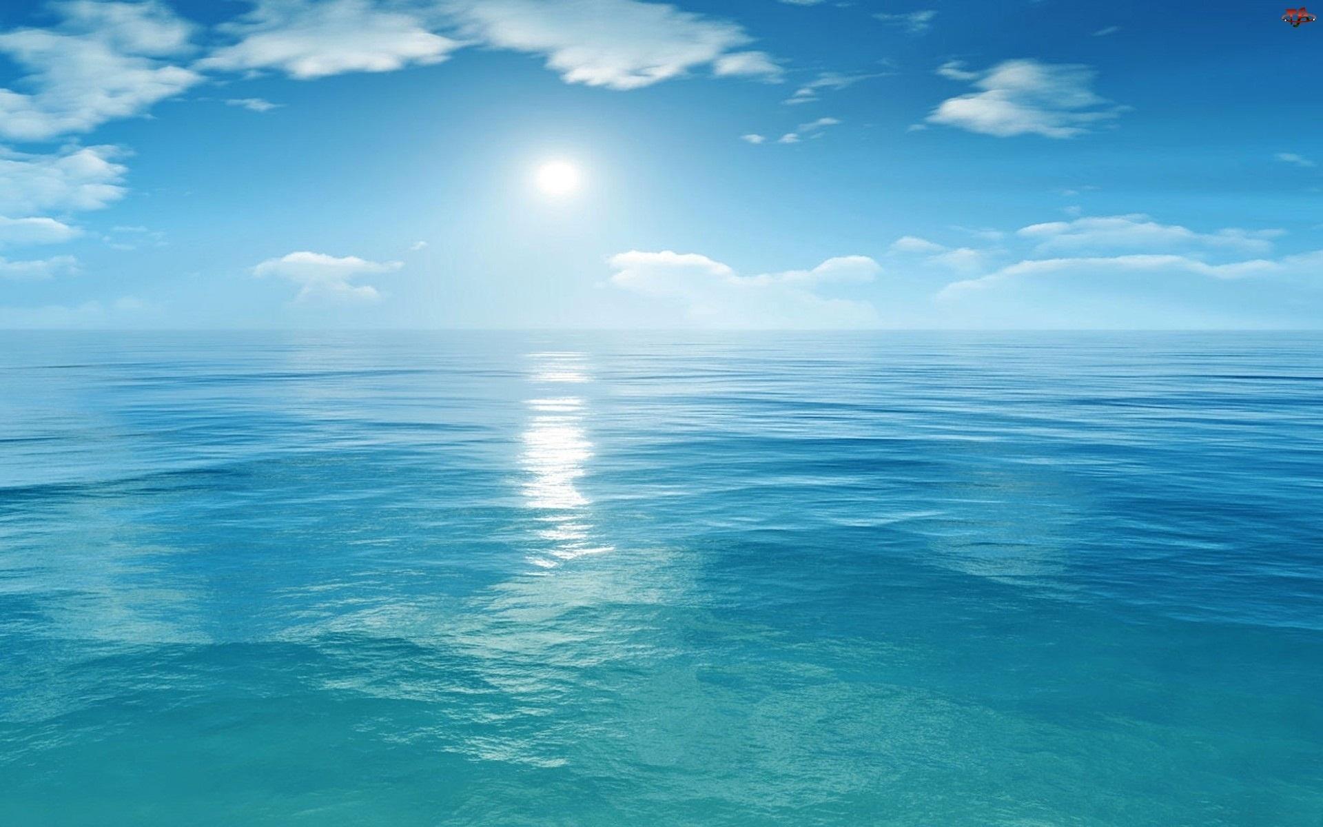 Morze, Błękitne, Niebo