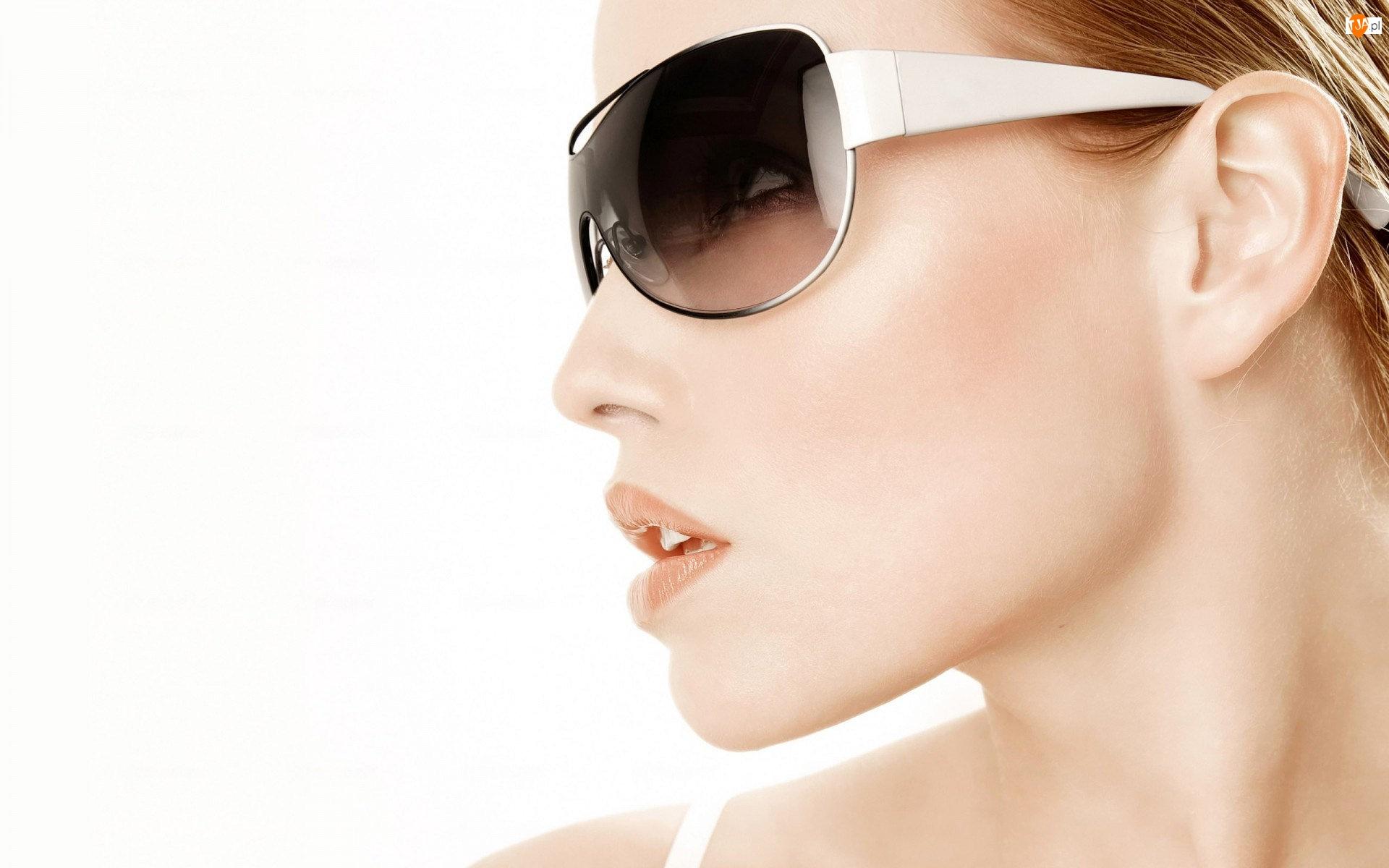 Urocza, Słoneczne, Blondynka, Okulary