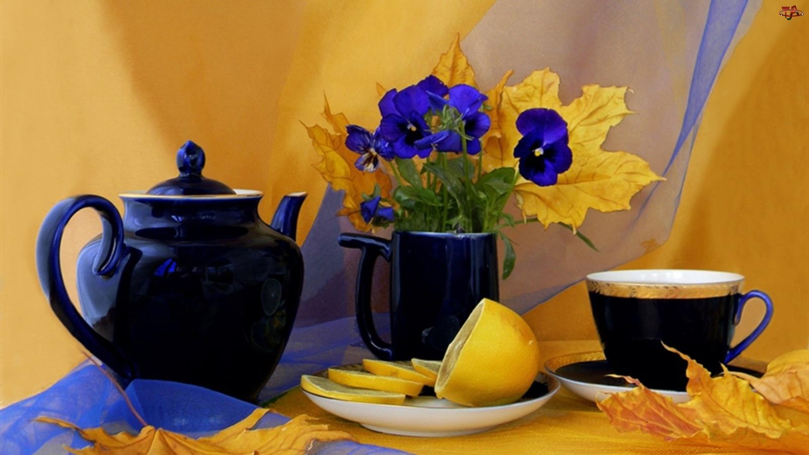 Herbatka, Cytrynka, Czajniczek, Bratki