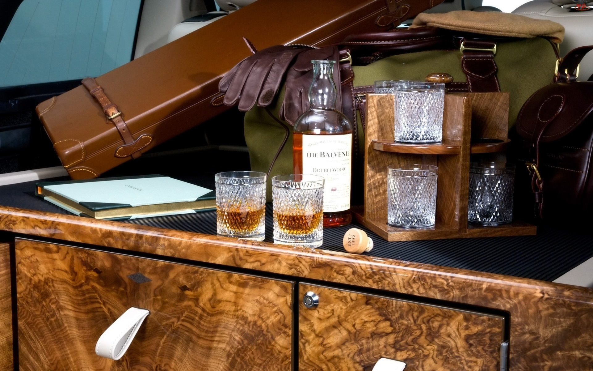 Futerał, Whisky, Szklanki, Balvenie, Torba