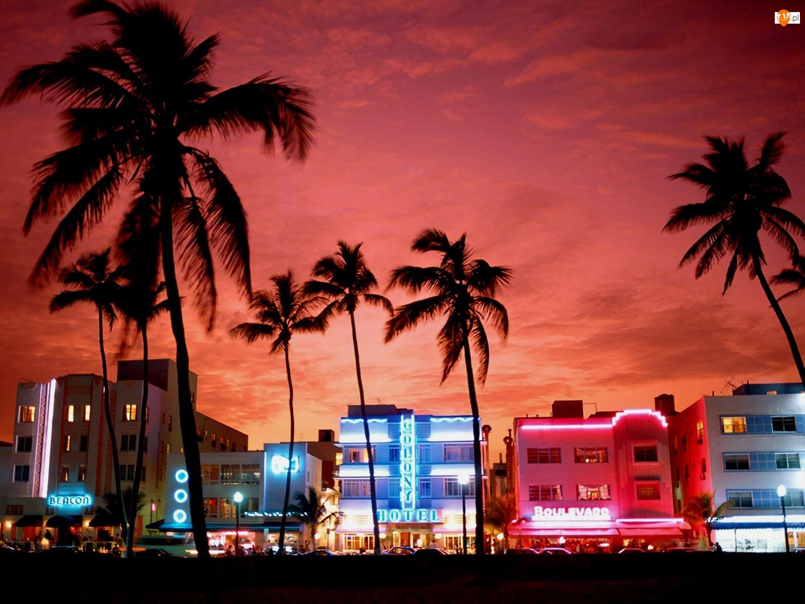 Floryda, Neony, Miami, Hotele