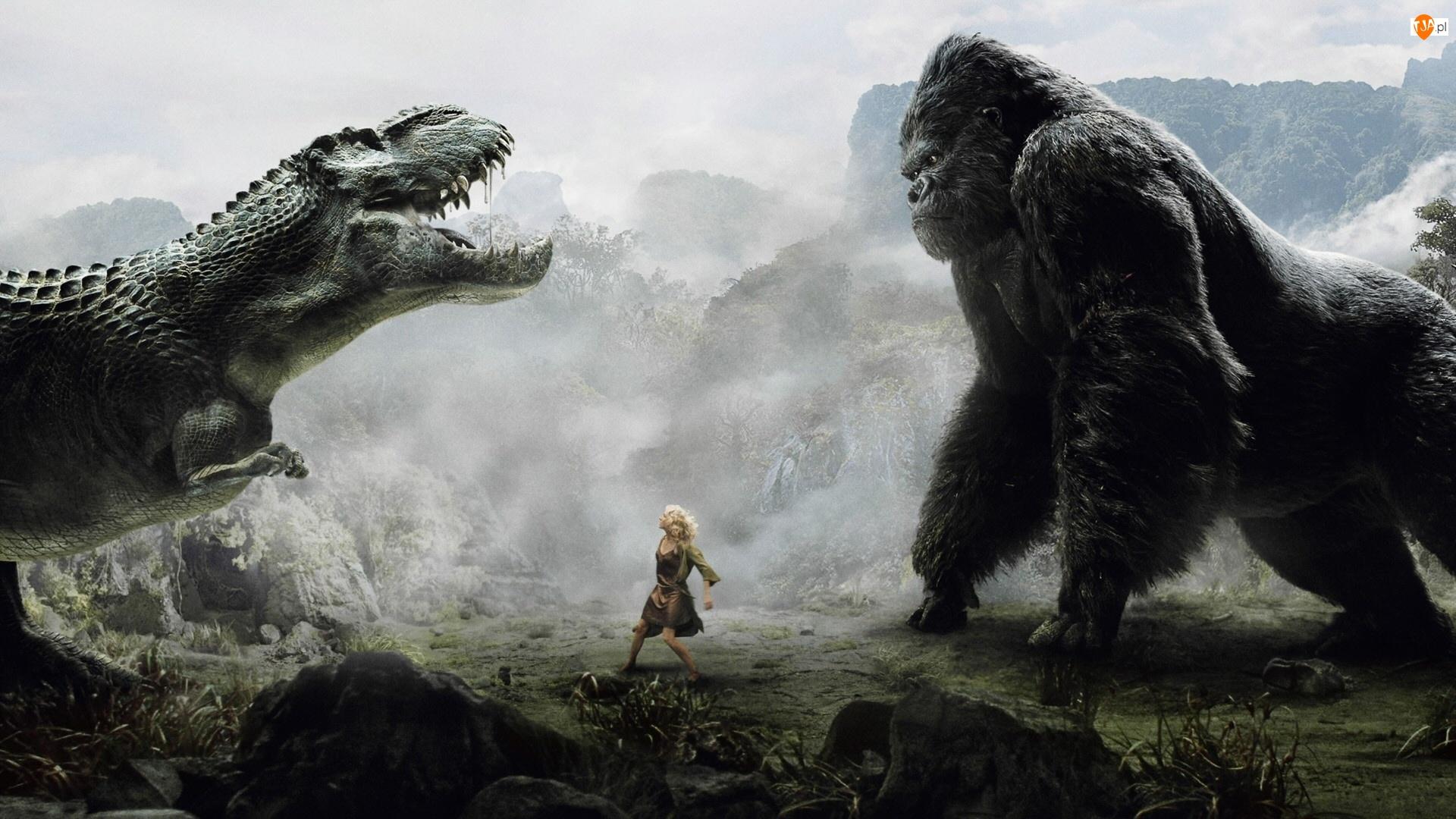 Blondynka, King Kong, Tyranozaur