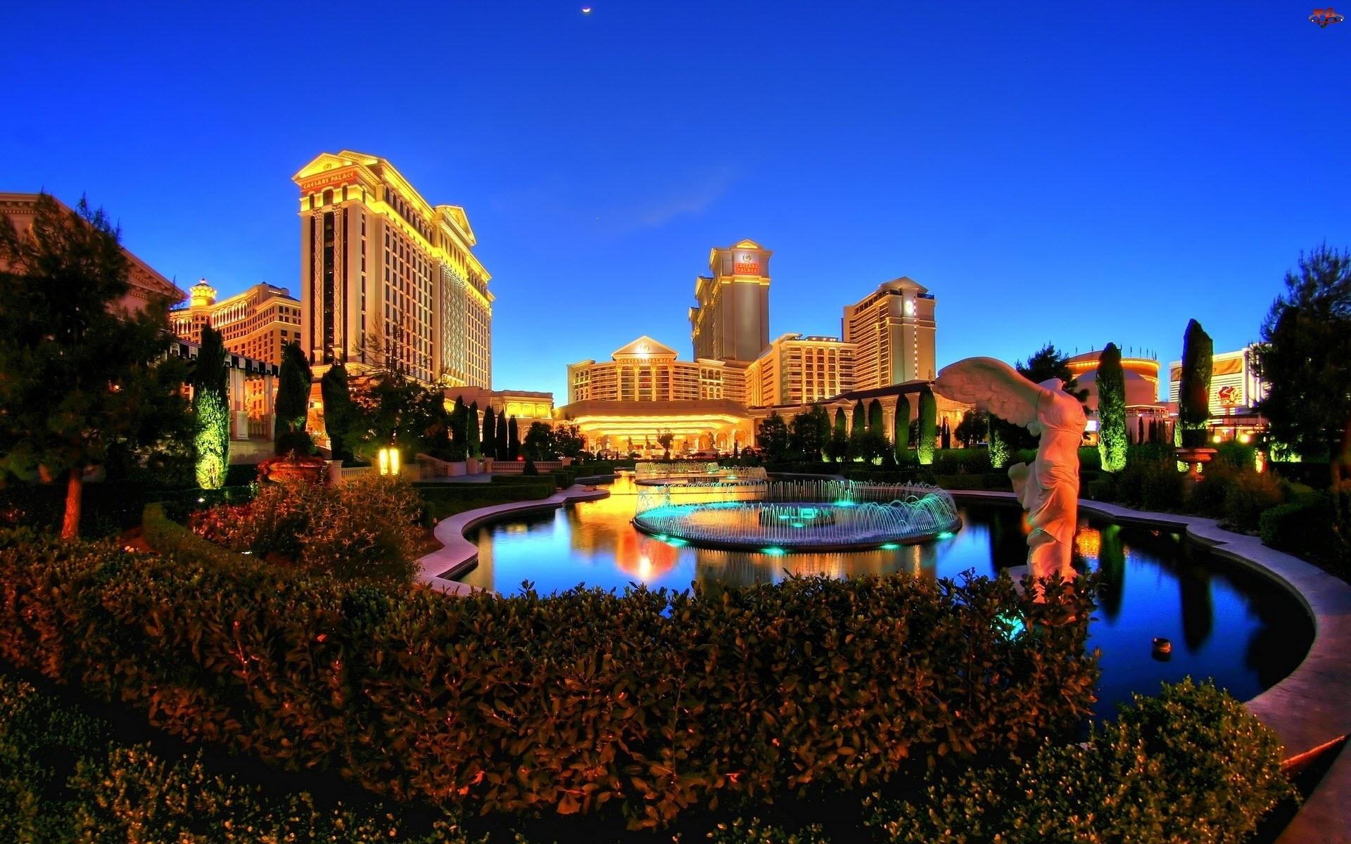 Fontanna, Miasto, Krzewy, Las Vegas
