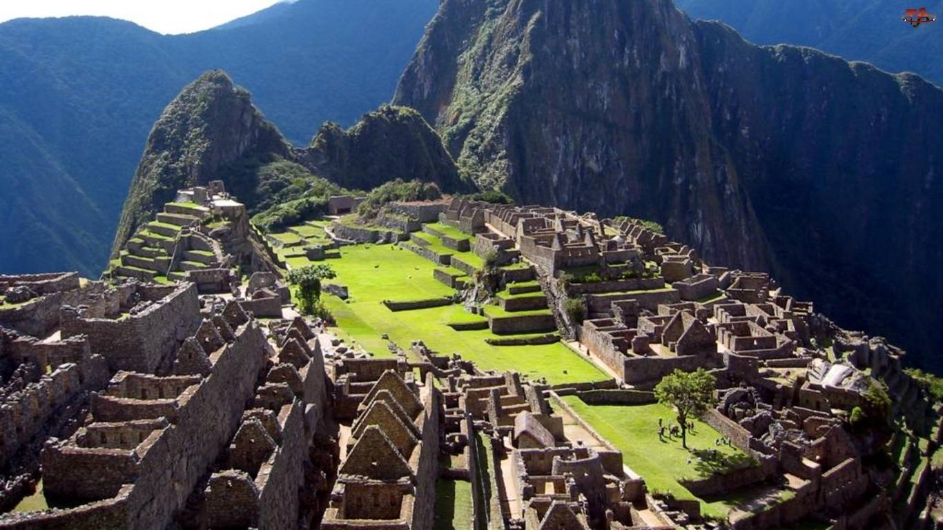 Góry, Machu, Picchu
