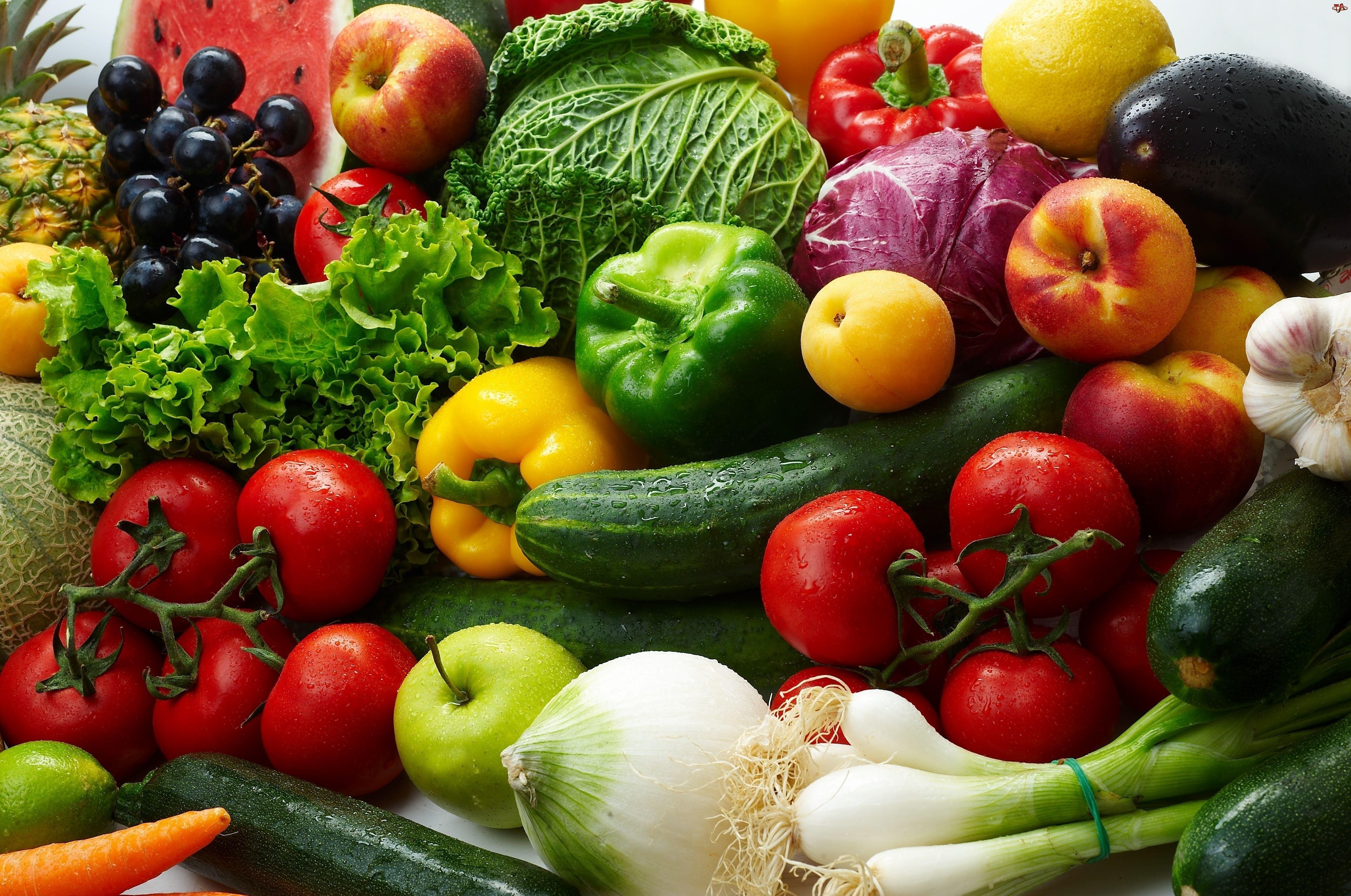 Różne, Owoce, Świeże, Warzywa