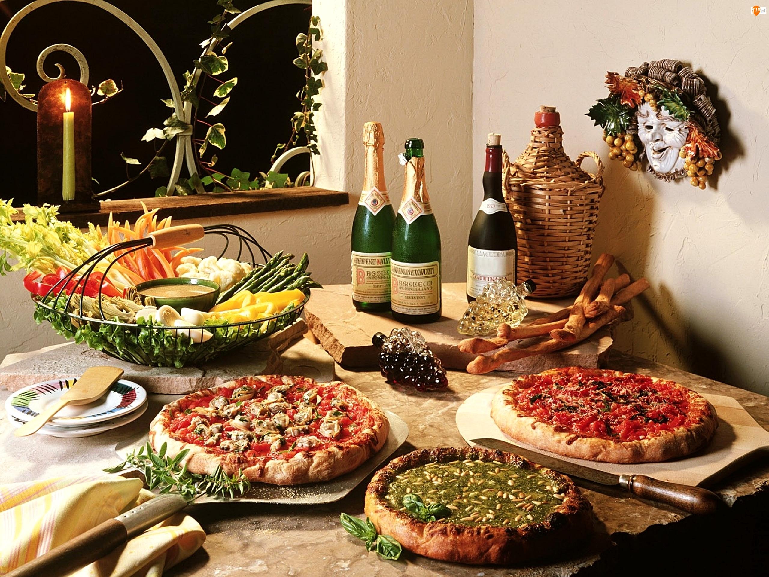 Dodatki, Pizza, Wina