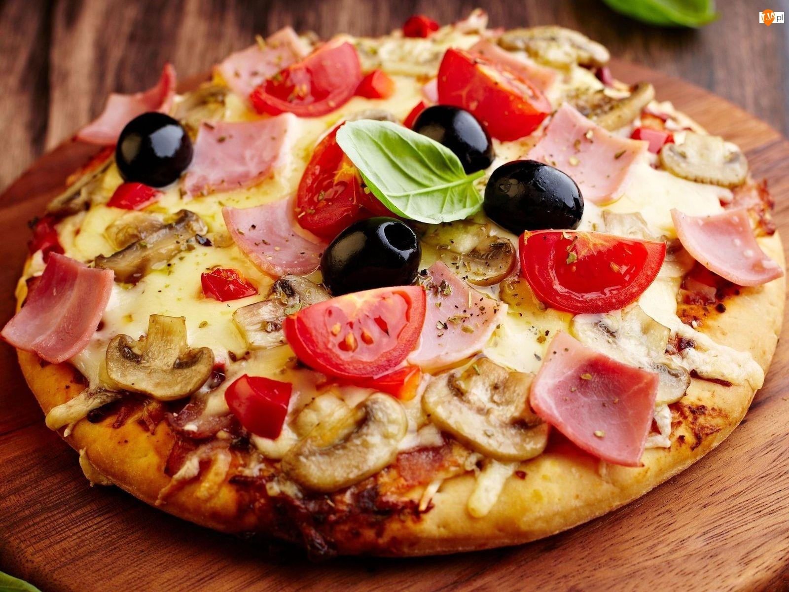 Oliwki, Pizza, Listek, Dodatki, Bazylii