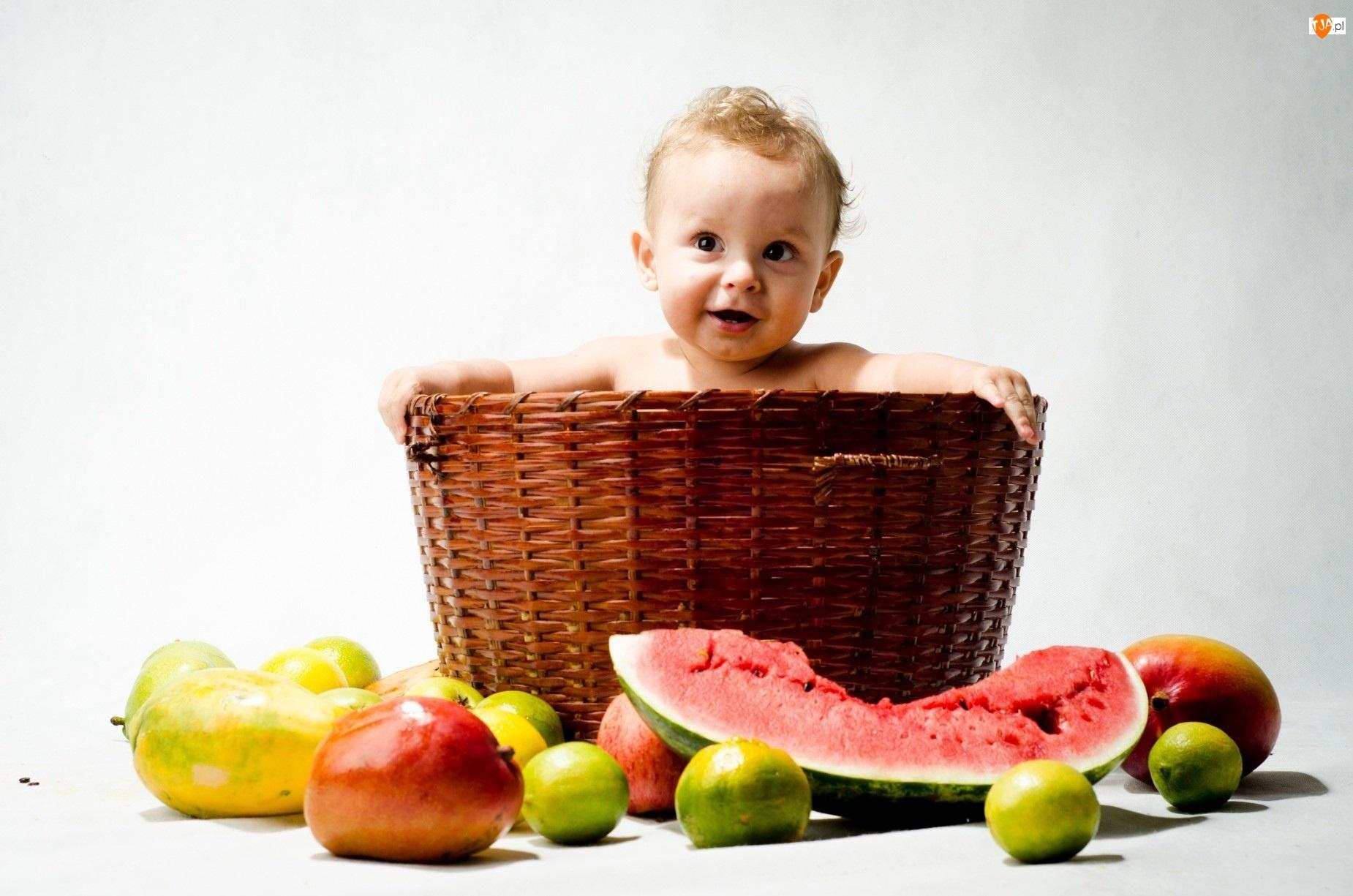 Owoce, Kosz, Dziecko