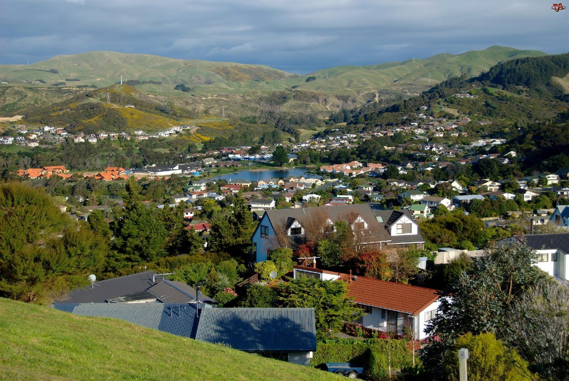 Panorama, Nowa Zelandia, Miasta, Whitby