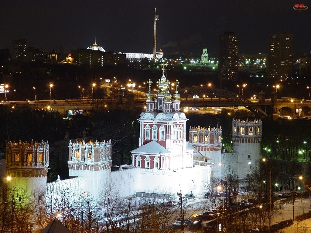 Moskwa, Noc, Monaster Nowodziewiczy, Rosja
