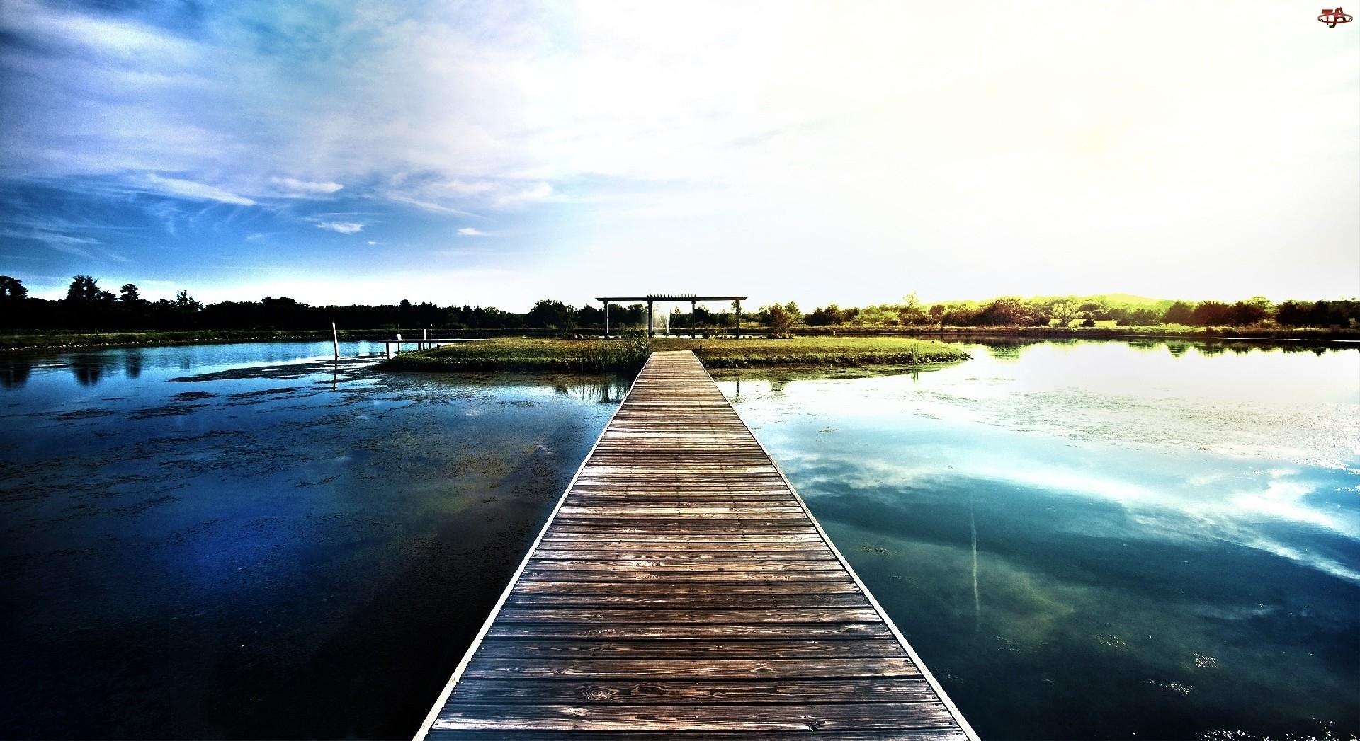 Wysepka, Jezioro, Kładka
