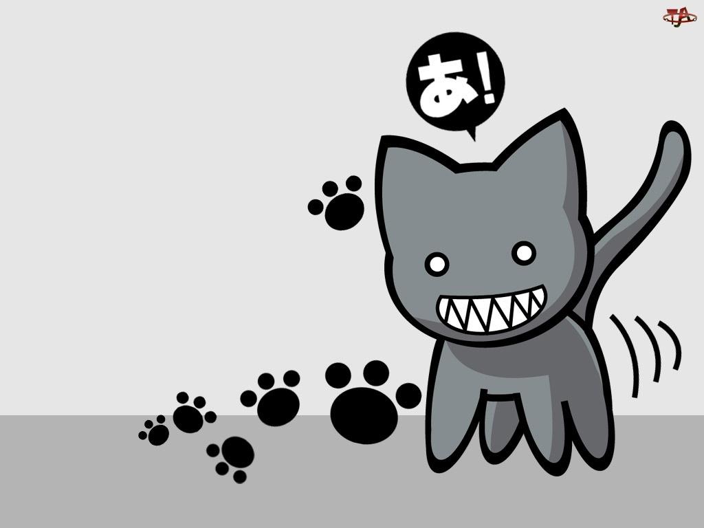 łapki, Azumanga Daioh, kot