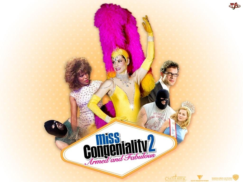 Sandra Bullock, Miss Congeniality 2, kostium, miss, postacie