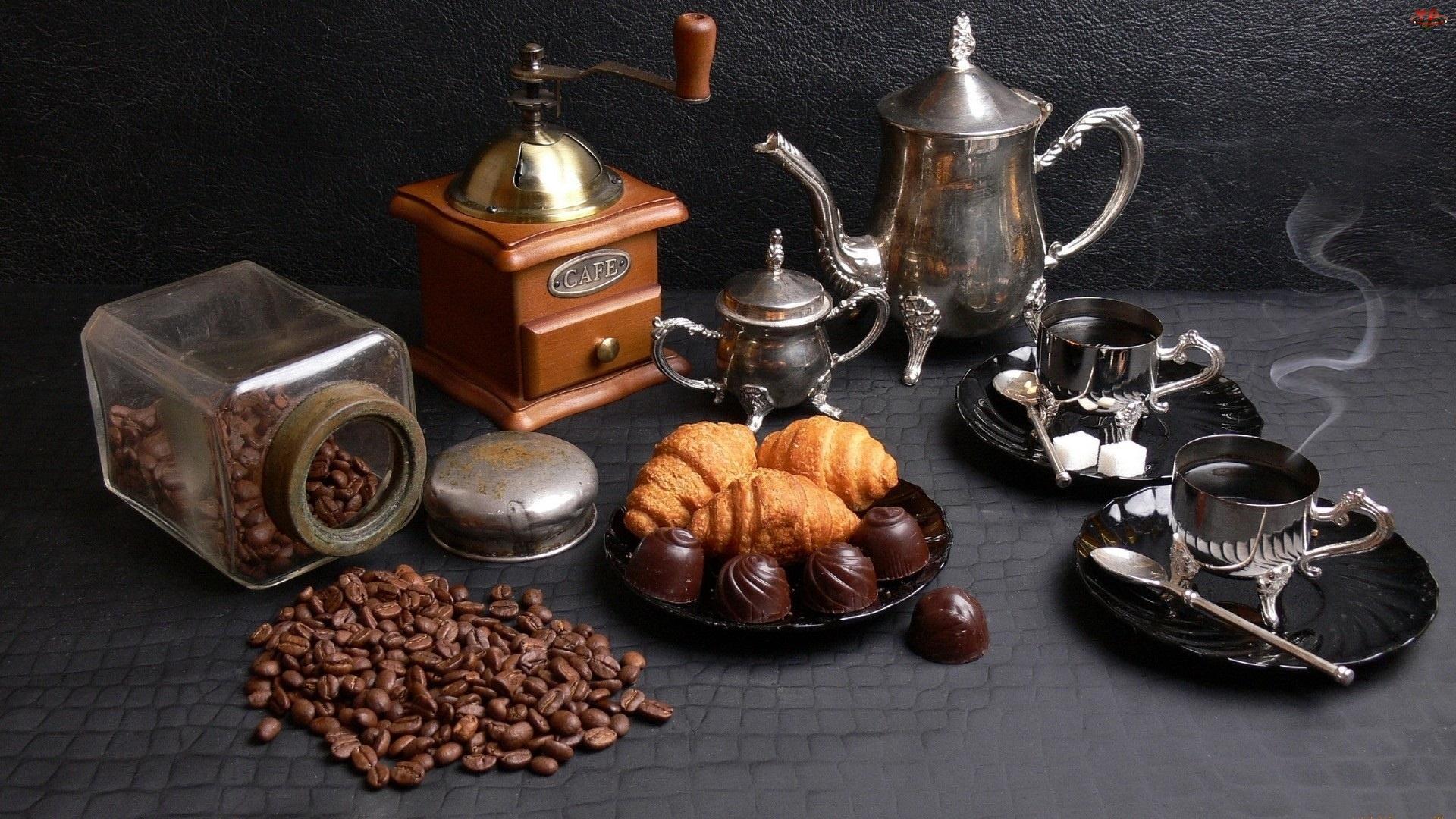 Zastawa, Kawy, Ciasteczka, Ziarna