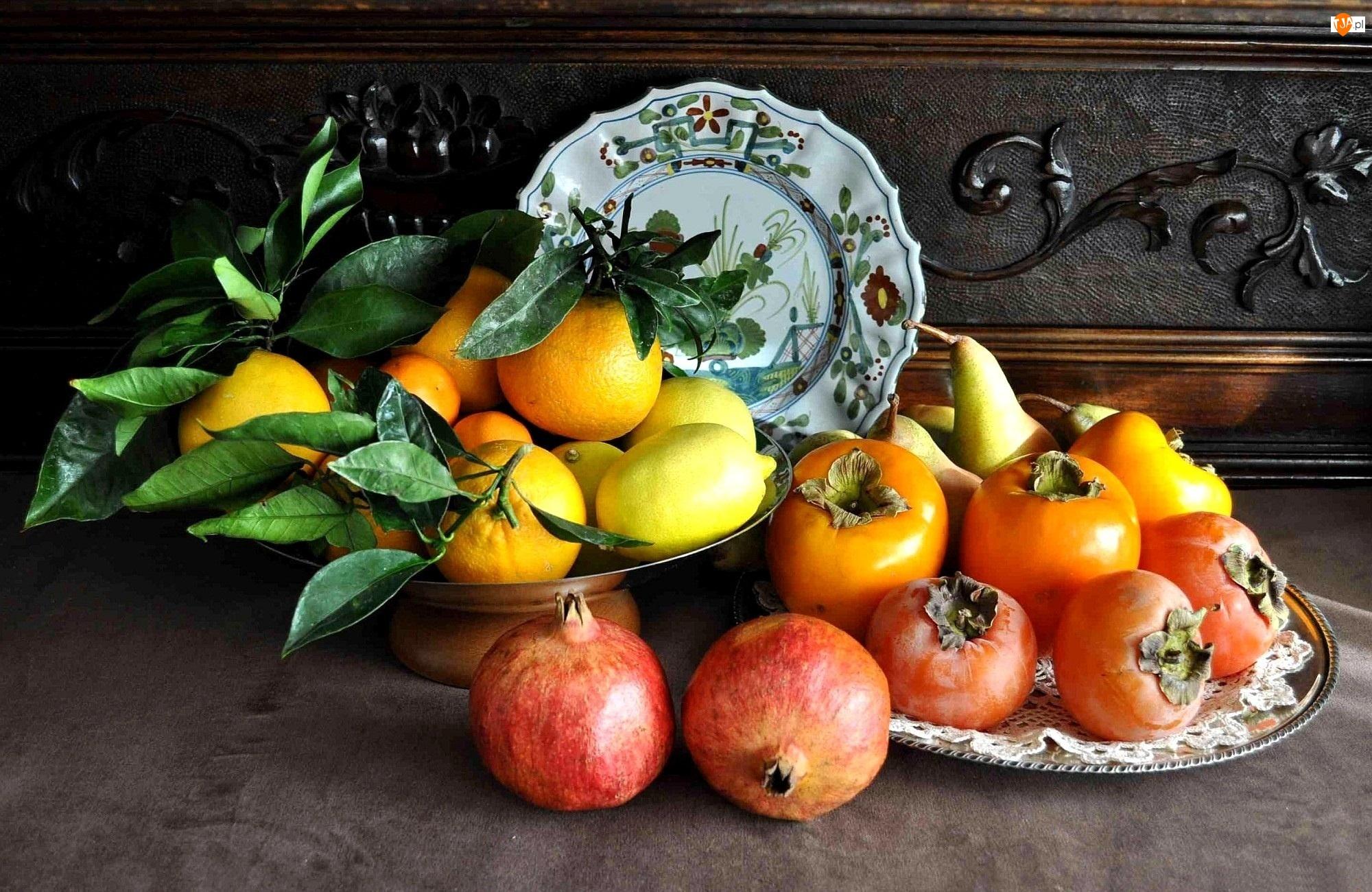 Cytryny, Pomidory, Granaty, Mandarynki