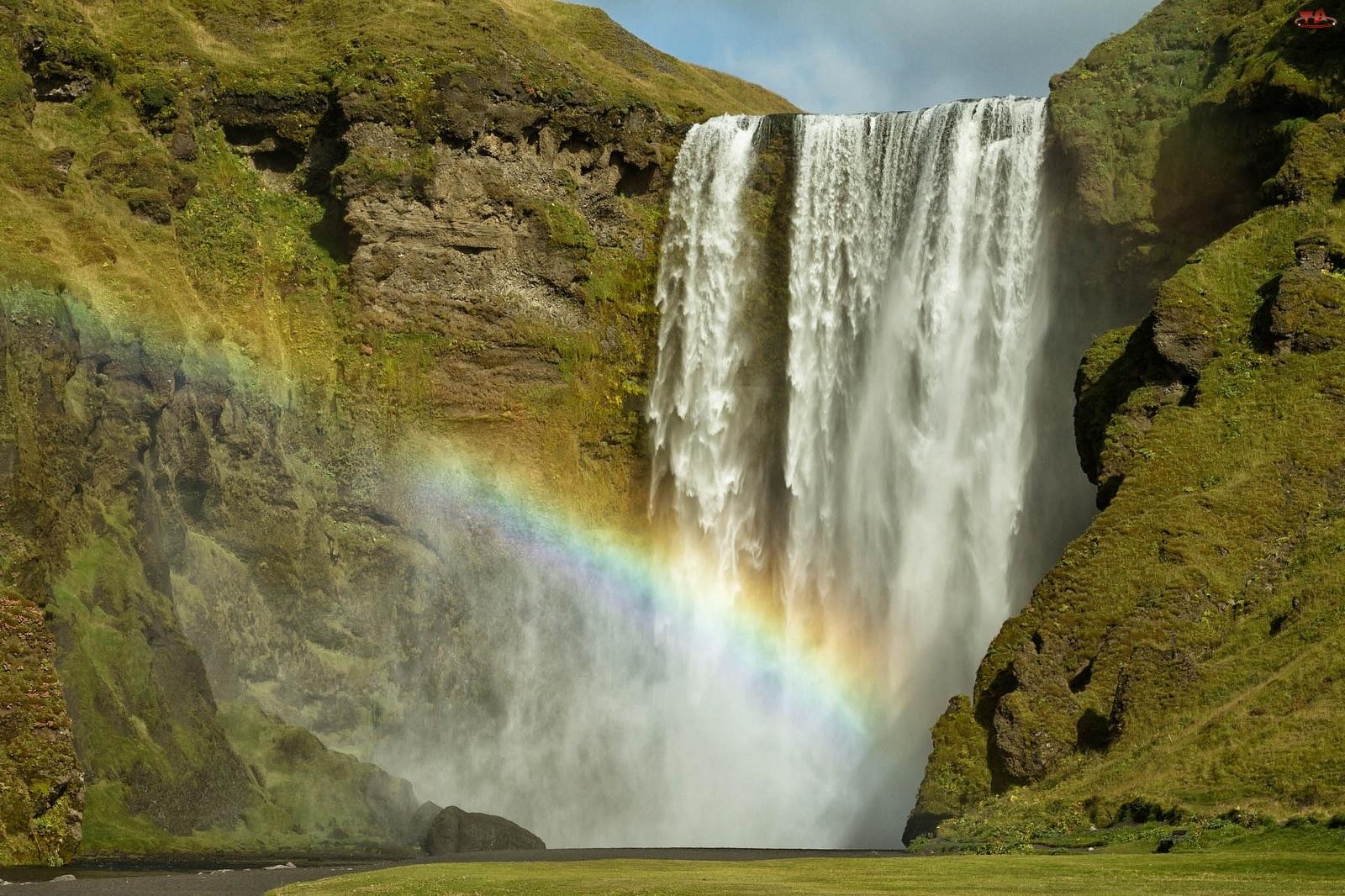 Tęcza, Wodospad, Skały