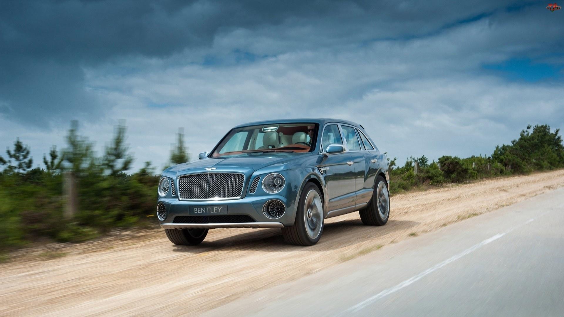 Samochód, Droga, Bentley, Suv Exp 9f