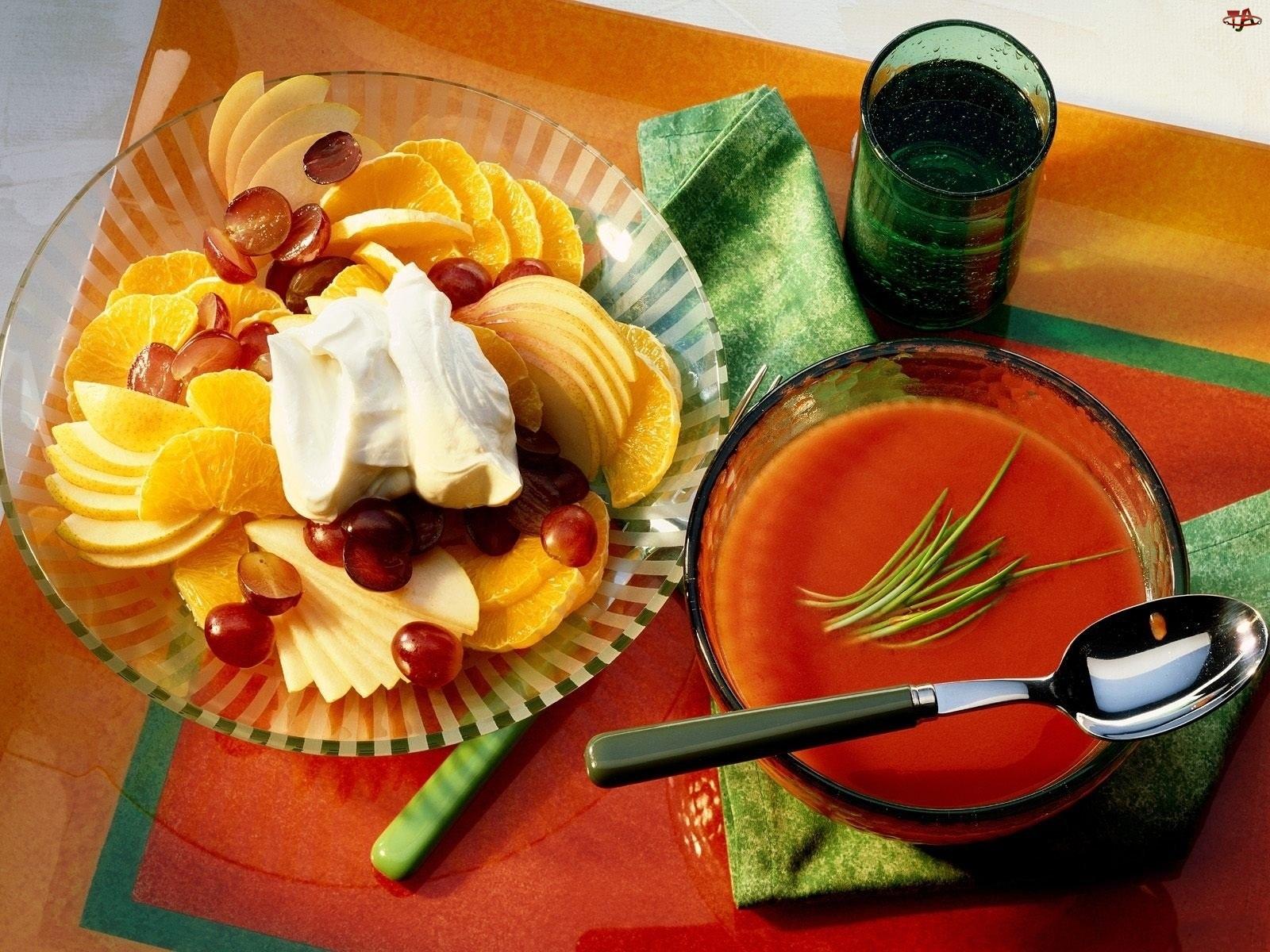 Zupa, Owoce, Pomidorowa, Pokrojone