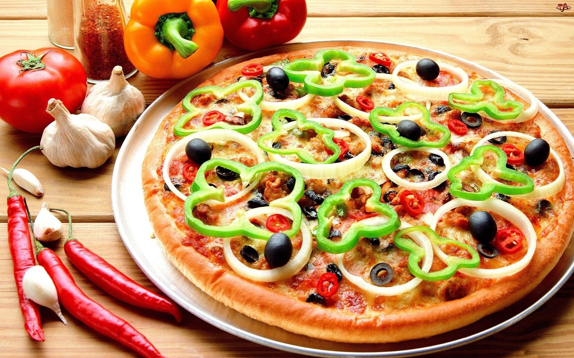 Pizza, Czosnek, Warzywa, Papryczka