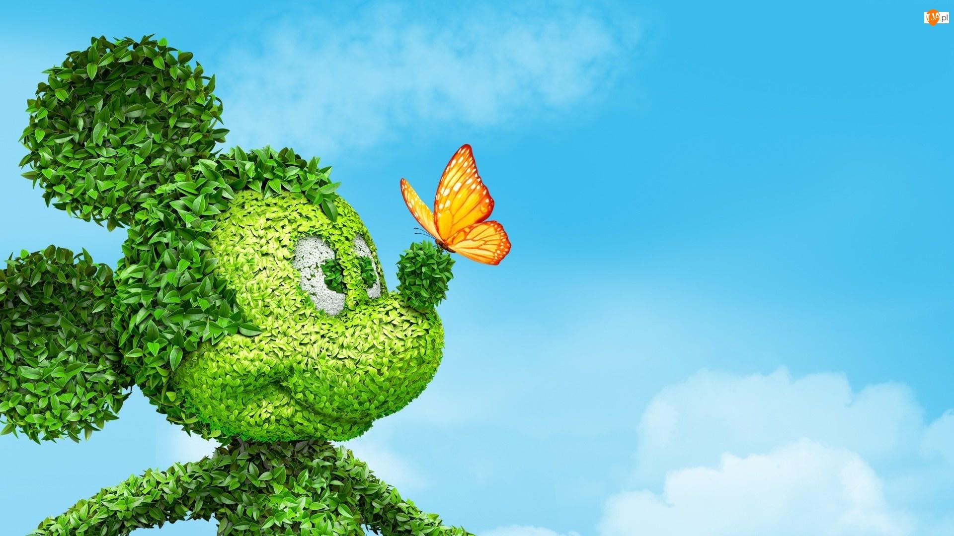 Motyl, Myszka, Rzeźba, Miki, Ogrodowa