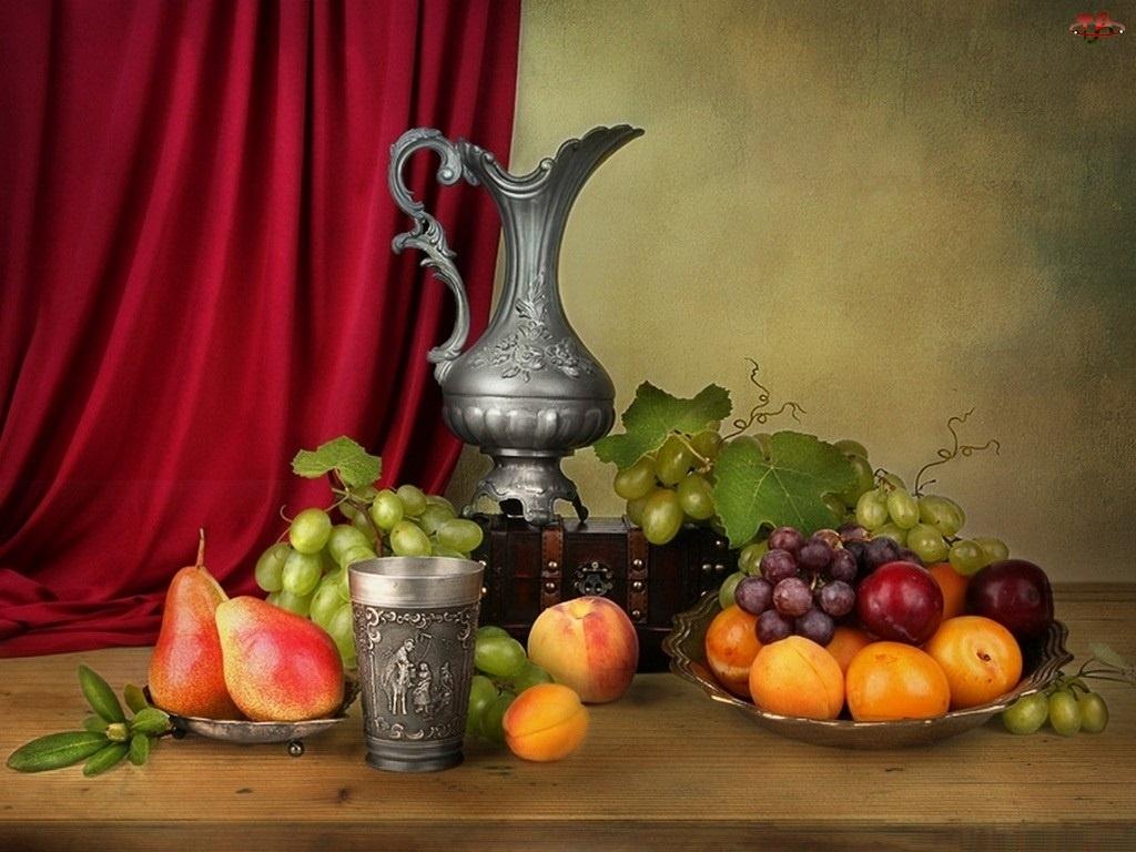 Srebrne, Owoce, Naczynia, Różne
