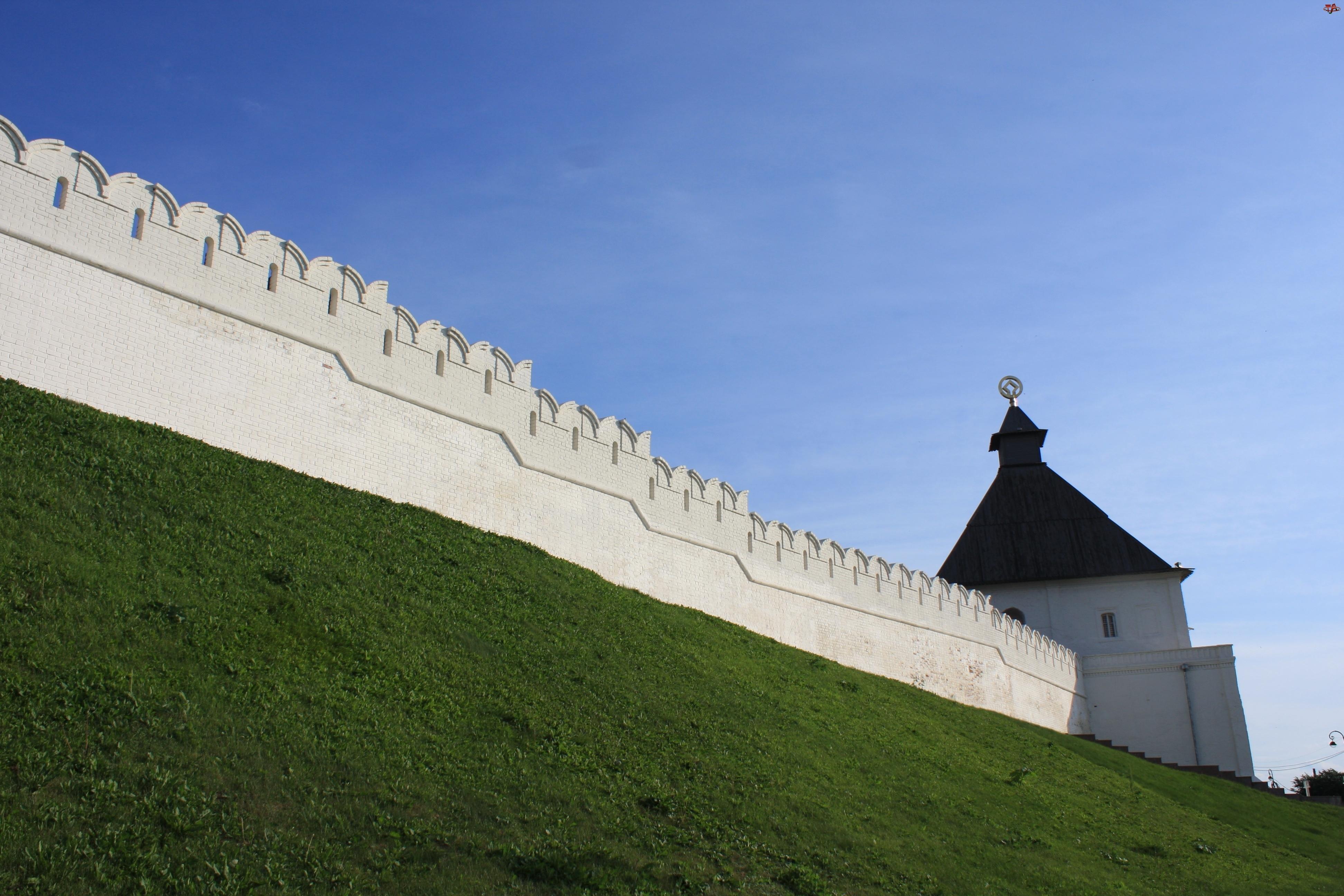 Mury, Rosja, Kreml, Kazań, Wieża