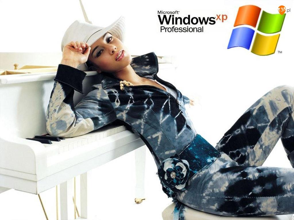 Windows, Kobieta, System, Kapelusz, Operacyjny, Xp