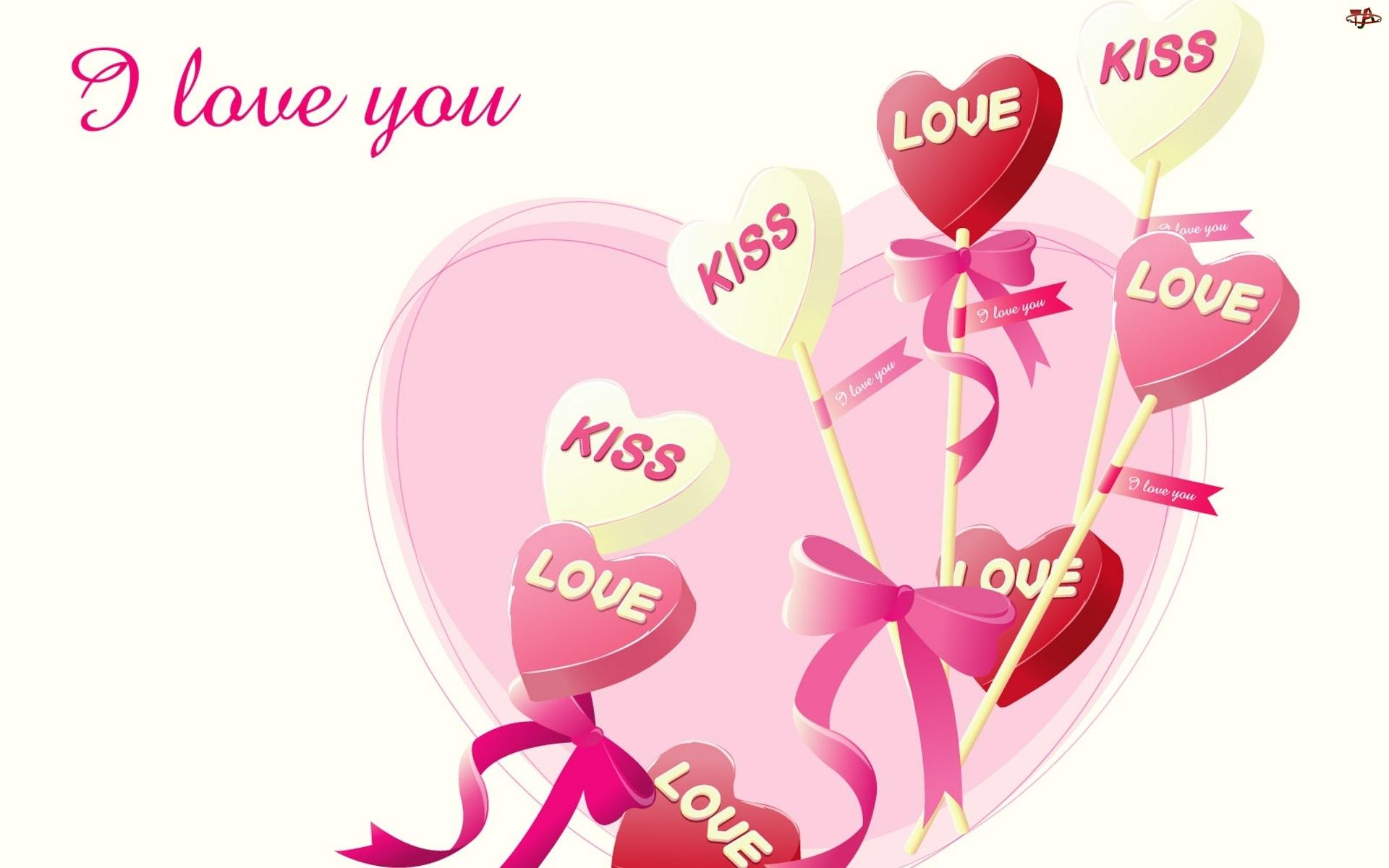 Walentynki, Miłosne, Serca, Napisy