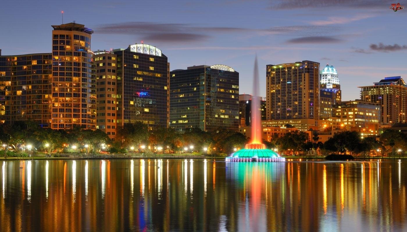 Orlando, Wieżowce, Floryda, Fontanna