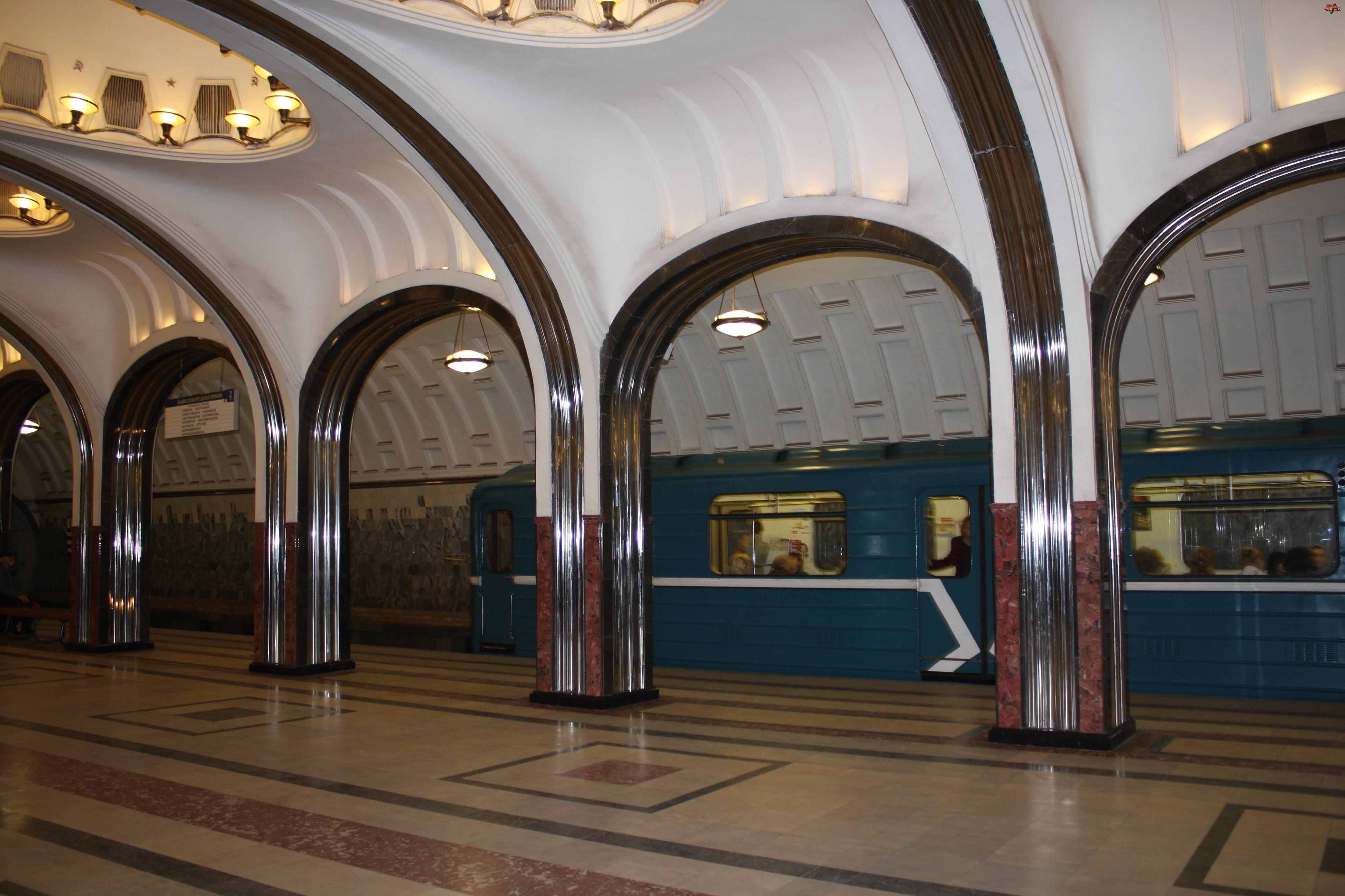 Rosja, Metro, Moskwa, Stacja Majakowskaja