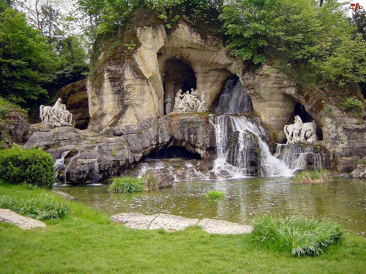 Francja, Ogród, Fontanna