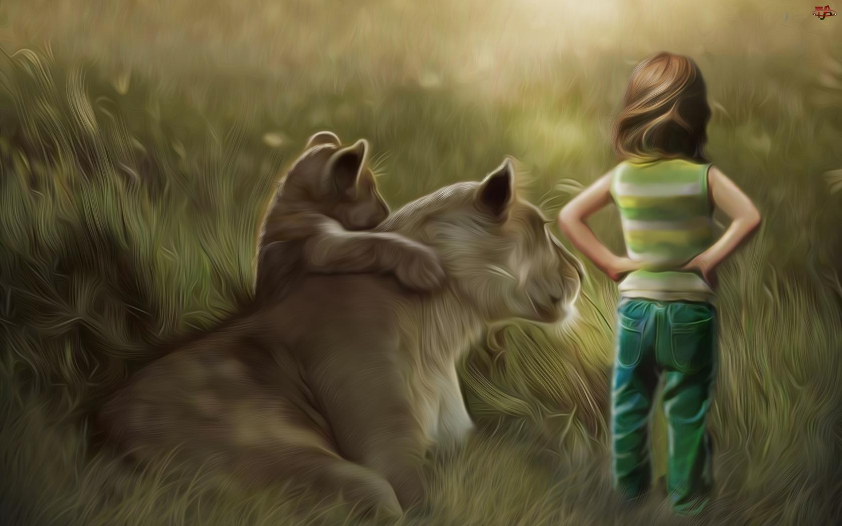 Dziewczynka, Art, Lwica, Małe