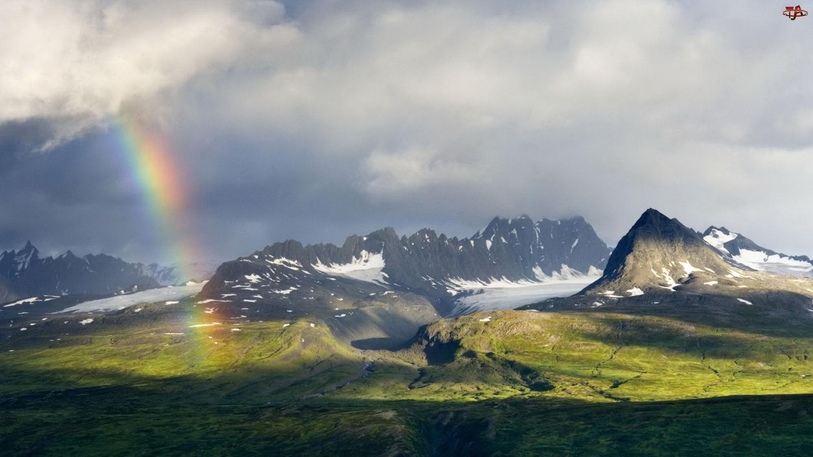 Tęcza, Góry, Doliny