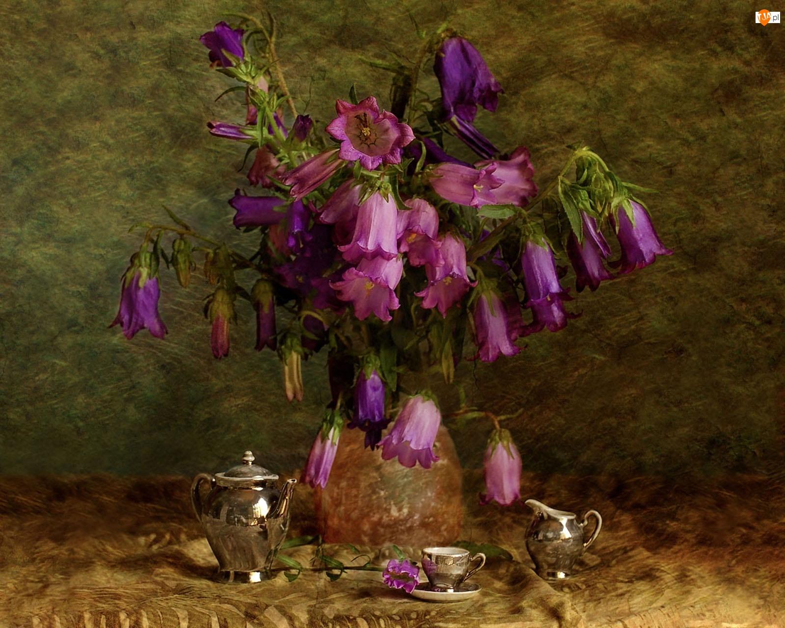 Obraz, Kompozycja, Kwiaty, Dzwonki