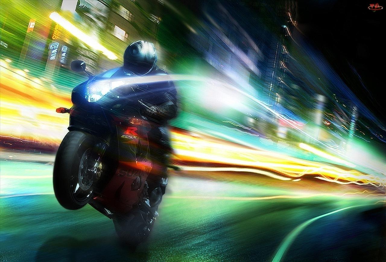 Motocyklista, Światło, Koło