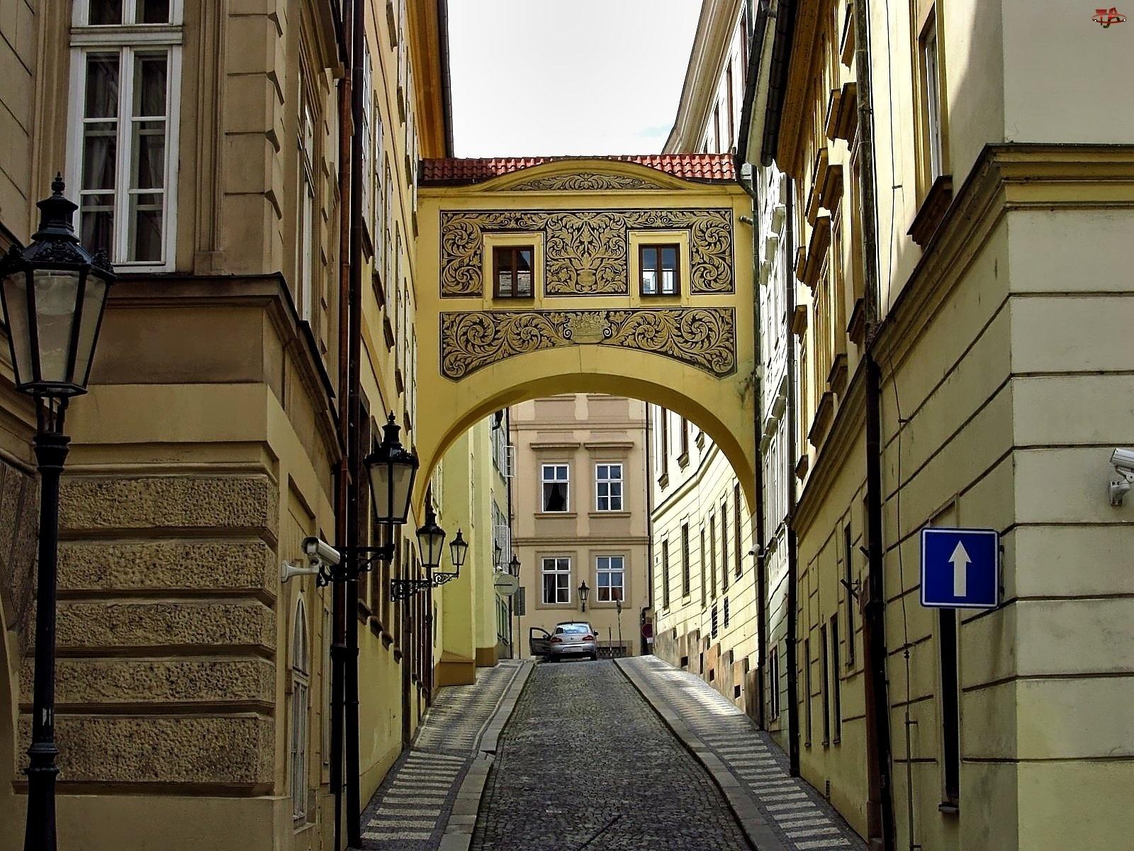 Praga, Zabytki, Uliczka, Domy