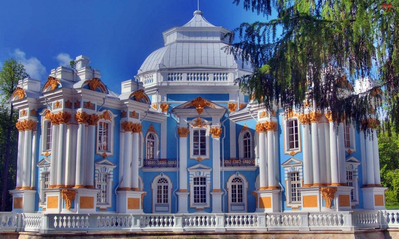 Rosja, Pawilon Ermitaż, Carskie Sioło, Puszkin