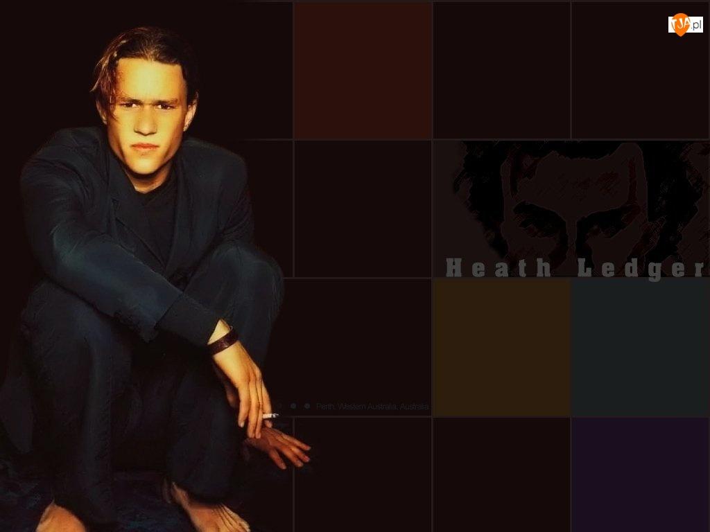 papieros, Heath Ledger, czarny strój