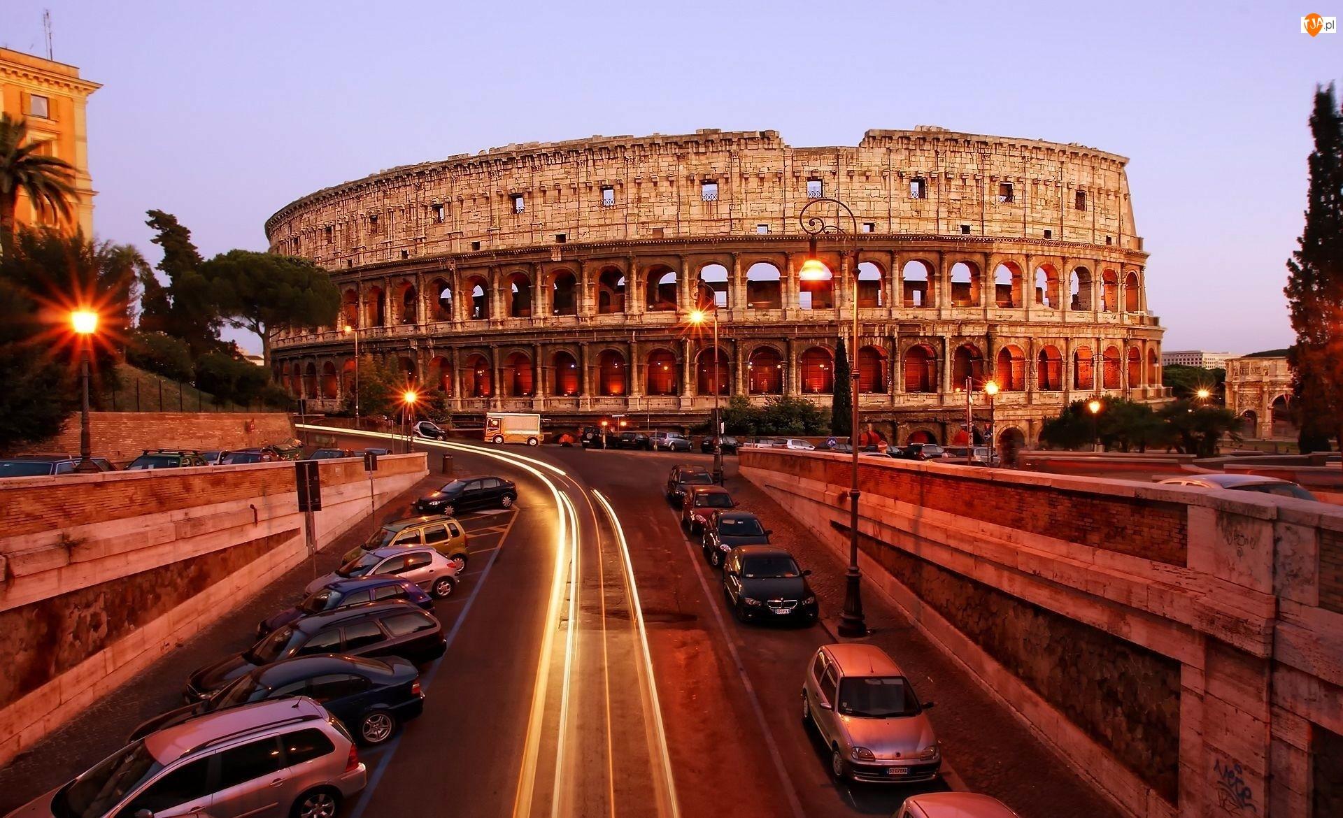 Włochy, Koloseum, Rzym, Amfiteatr