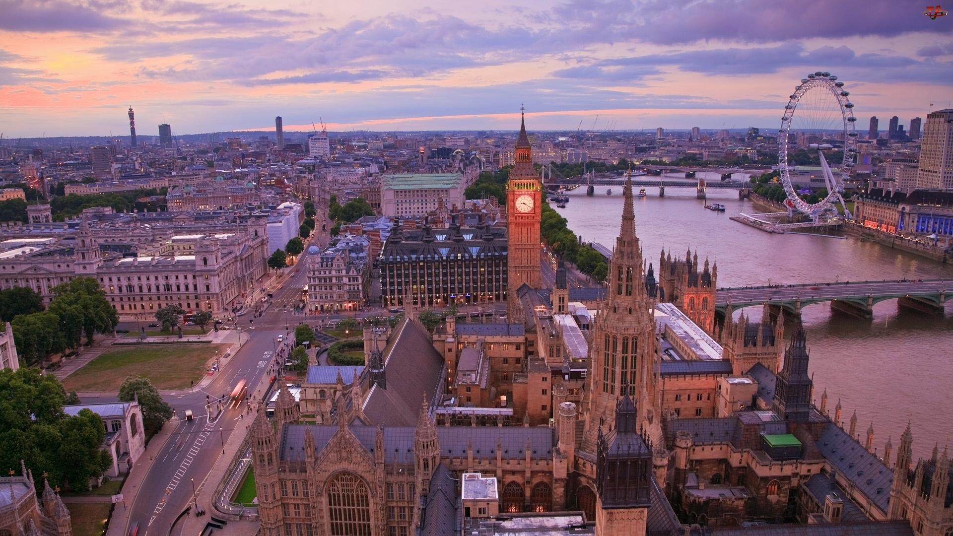 Big Ben, Londyn, Tamiza