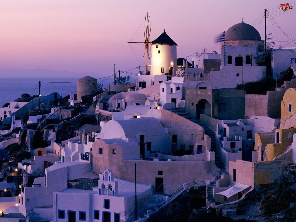 miasto, Grecja, Wiatrak