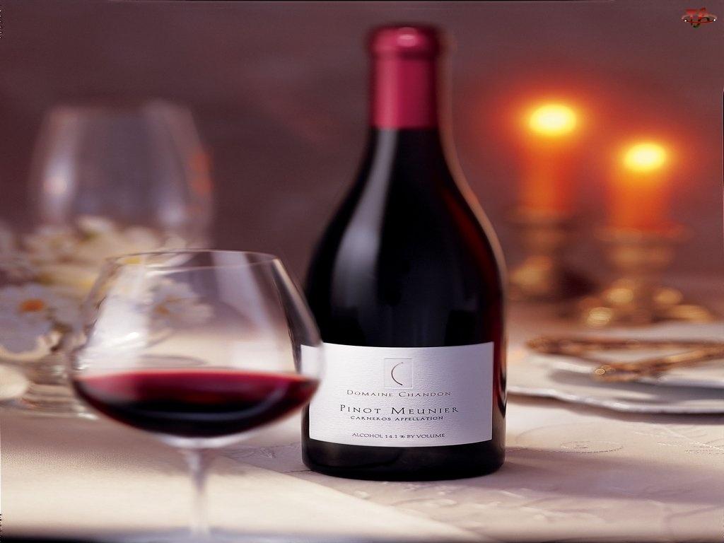 czerwone wino, Wina, nakrycie