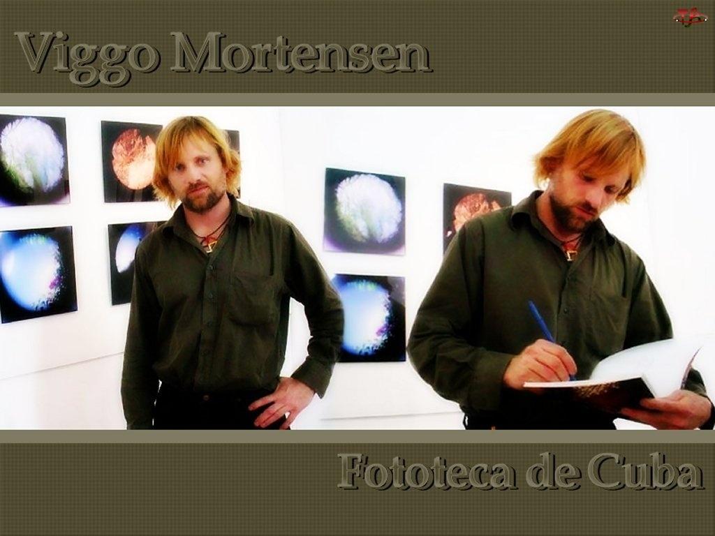 długopis, Viggo Mortensen, zeszyt