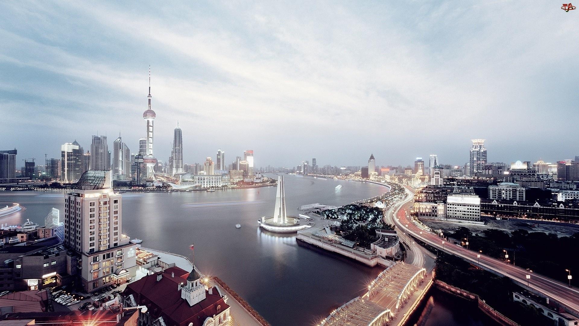 Miasto, Rzeka, Shanghai, Chiny
