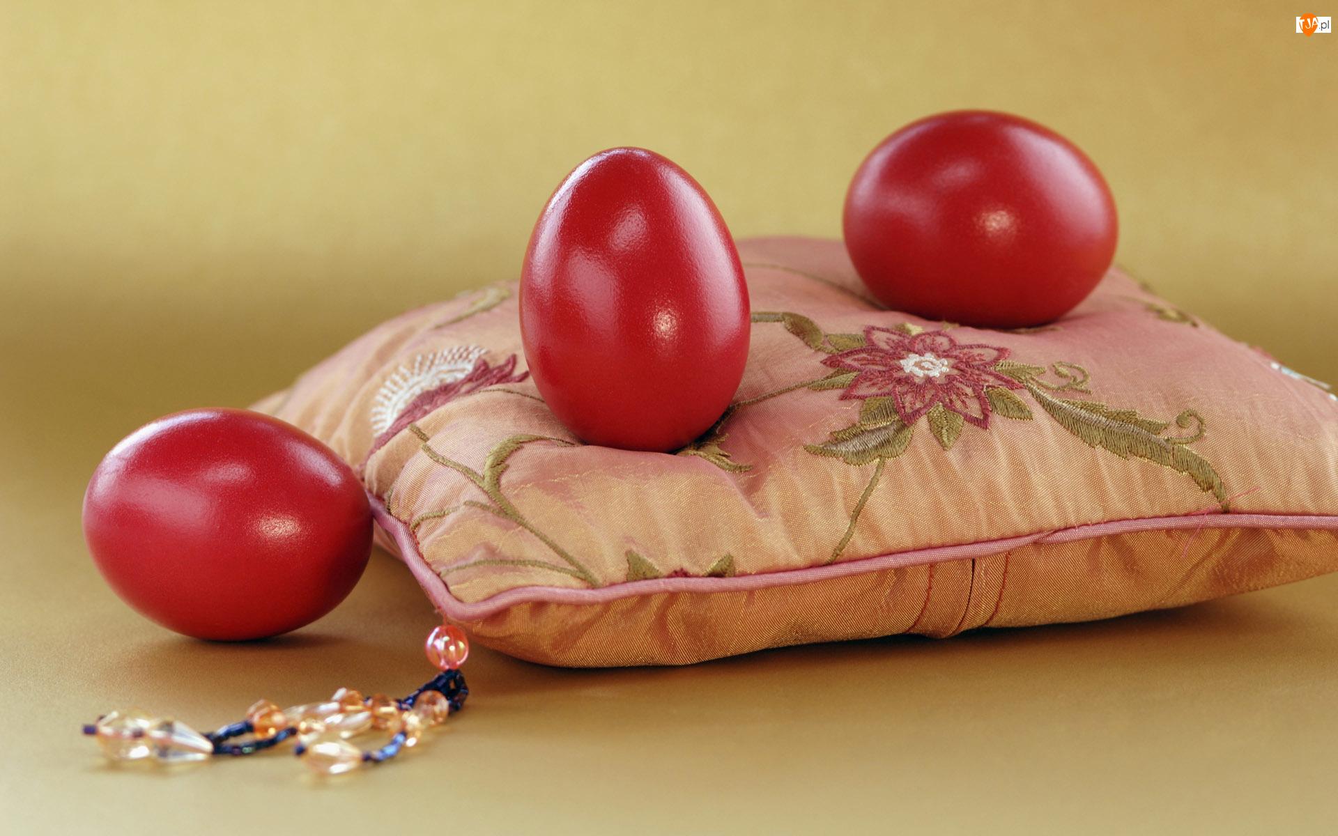 Poduszka, Czerwone, Jajka